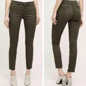 Anthropologie Hei Hei Olive Green Skinny Pants